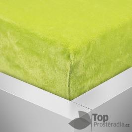 TOP Mikroflanel prostěradlo 180x200 Elegance - Májová zelená