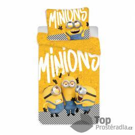 TOP Bavlněné povlečení 140x200+70x90 Mimoni 2 Yellow