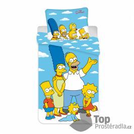 TOP Bavlněné povlečení 140x200+70x90 The Simpsons family Clouds