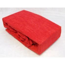 TP Froté prostěradlo Premium 190g/m2 160x200 Červená