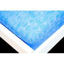 TP Žakárové prostěradlo (90 x 200) Premium - Modrá