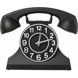 Nástěnné hodiny Telephone - černé