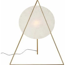 Stojací lampa Triangle Marble - bílá