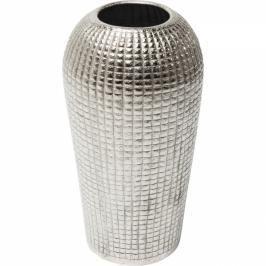 Vysoká stříbrná hliníková dekorativní váza Cubes Alu 56cm