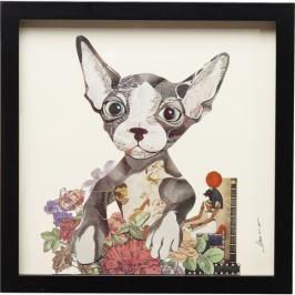 Obraz s rámem Art Flower Dog 41×41 cm