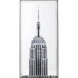 Obraz se zrcadlovým rámem Empire State Building 120×60 cm