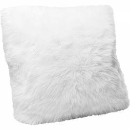 Polštářek Fur White 60×60 cm