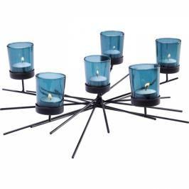 Svícen na čajovou svíčku Micado Turquise Six