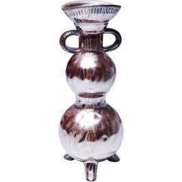 Hnědá kameninová váza Antiquity 37cm
