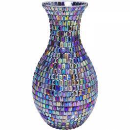 Barevná skleněná váza Rainbow Diamonds 34cm