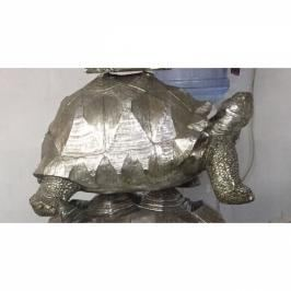 Soška Želva Stříbrná 60cm