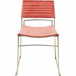 Židle Hugo fialová - zlatý rám