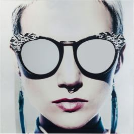 Skleněný obraz Metallic Girlie 120×120 cm