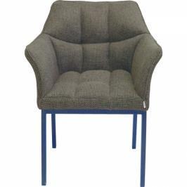 Hnědá čalouněná židle s područkami Thinktank