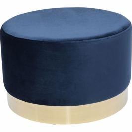 Modrý taburet Cherry - sokl mosaz