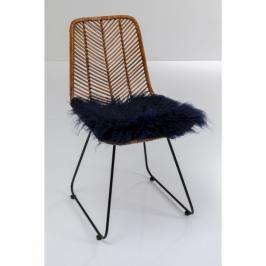 Dekorativní polštář Heidi Fur Blue 40x40cm