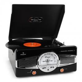 Auna MG-TT-82B gramofon, FM, 50. léta retro, černý