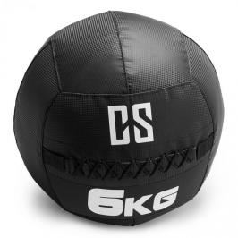 Capital Sports Bravor Wall Ball medicinbal PVC 6kg černá, dvojité švy