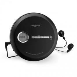 OneConcept CDC 100MP3 Discman Disc-Player, LCD ASP, zesilovač basů, 2x1,5V; černá barva