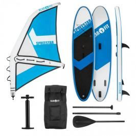 KLARFIT Spreestar WS, nafukovací paddleboard, sup-board-set, 300x10x71, modro-bílá barva