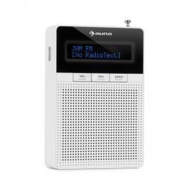 Auna DigiPlug FM, rádio do zásuvky, FM, BT, LCD displej, bílé