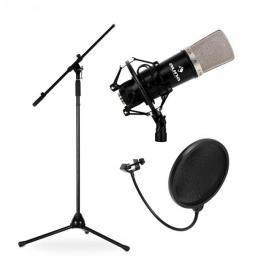 Auna Mikrofonní set, stojan, mikrofon a pop filtr