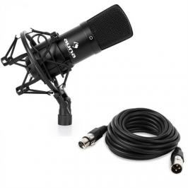 Auna CM001B studiový mikrofon černý, nástroje, XLR