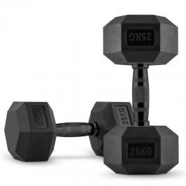 Capital Sports Hexbell Dumbbell, jednoruční činka, pár 2 x 25 kg