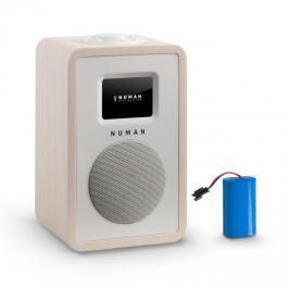 Numan Mini One Design digitální rádio bluetooth DAB + FM AUX barva javor včetně nabíjecí baterie