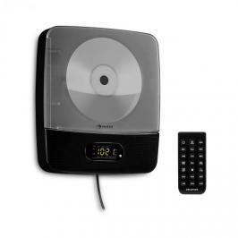 Auna Vertiplay, CD přehrávač, bluetooth, noční světlo, FM rádio, AUX, digitální hodiny, černý