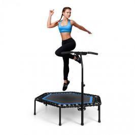 "KLARFIT Jumpanatic Pro, Fitness trampolína, 50""/127 cm, tyč s rukojetí, modrá"