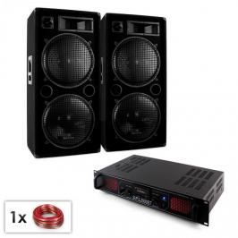 "Electronic-Star SPL bluetooth MP3, PA set, 2x 15"" reproduktor, zesilovač, 2000 W"