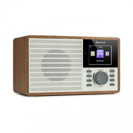"Auna IR-160 SE, internetové rádio, WLAN, USB, DAB+, FM, 2.8"" HCC displej, aplikace AirMusic, dřevo"