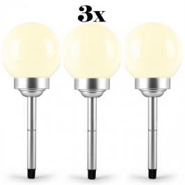 OneConcept Led-Flower 30, 3x zahradní svítidlo, solární lampa, ø 30 cm, 4 LED diody, IP44 teplá bílá