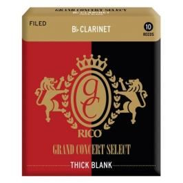 Rico RGT10BCL250 - Grand Concert Select Thick Blank - Bb Clarinet Reeds 2.5 - 10 Box