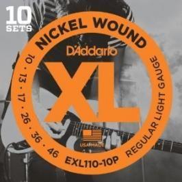 D'Addario EXL110-10P Regular Light - .010 - .046