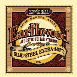 Ernie Ball 2047 Earthwood Silk and Steel Extra Soft - .010 - .050