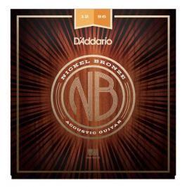 D'Addario NB1256 Nickel Bronze Acoustic Light Top / Medium Bottom