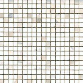 Kamenná mozaika Premium Mosaic Stone bílá 30x30 cm leštěná STMOS15WHP