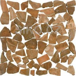 Kamenná mozaika Premium Mosaic Stone oranžová 30x30 cm mat STMOSORW