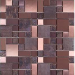 Měděná mozaika Premium Mosaic Stone metalická hnědá 30x30 cm mat / lesk MOS4823CO