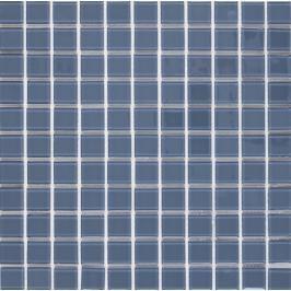 Skleněná mozaika Premium Mosaic světle šedá 30x30 cm lesk MOS25LGY