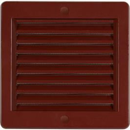 HACO Větrací mřížka 15x15 hnědá se síťkou VM1515H