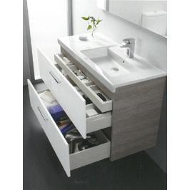Koupelnová skříňka pod umyvadlo Roca Prisma 90x46x66,7 cm jasan/bílá lesk A856883322
