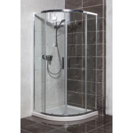 Sprchový kout čtvrtkruh 80x80x190 cm Siko TEX chrom lesklý SIKOTEXS80CRT
