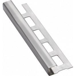 Lišta ukončovací hranatá nerez kartáčovaná, délka 250 cm, výška 10 mm, NRZHK10250