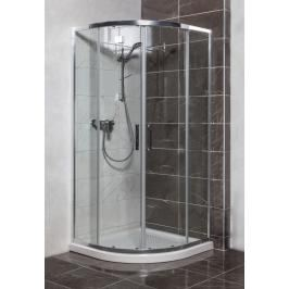 Sprchový kout čtvrtkruh 90x90x190 cm Siko TEX chrom lesklý SIKOTEXS90CRT