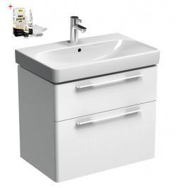 Koupelnová skříňka s umyvadlem Kolo Kolo 60x71 cm bílá lesk SIKONKOT60BL