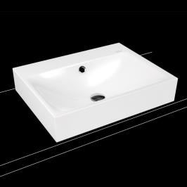 Umyvadlo na desku Kaldewei Silenio 3042 60x46 cm alpská bílá bez otvoru pro baterii 904106003001