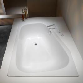 Asymetrická vana Kaldewei Plaza 180x43 cm smaltovaná ocel alpská bílá 237010113001